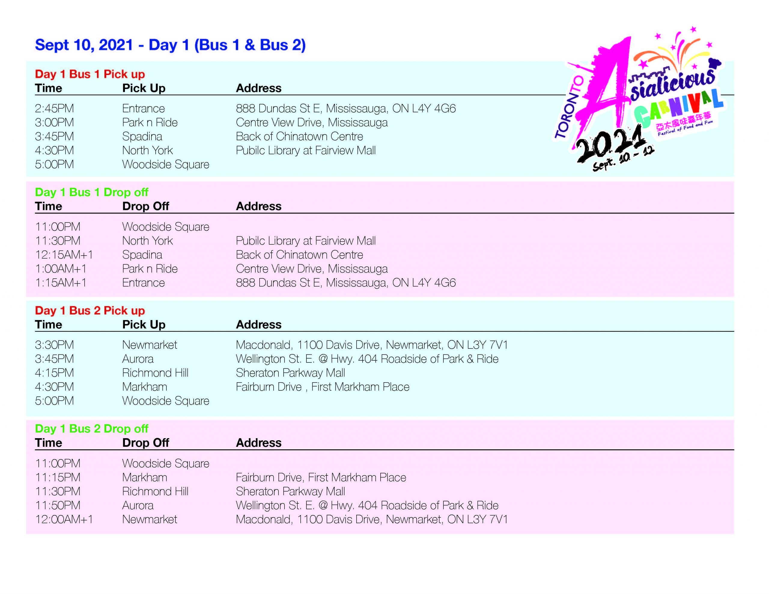 Asialicious Shuttle Schedule day 1 scaled | Asialicious Carnival
